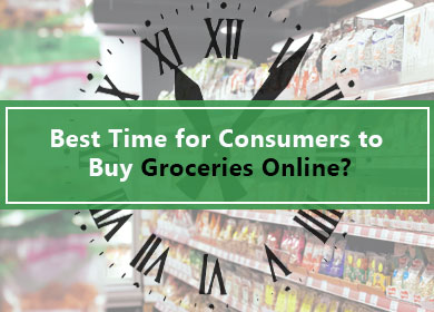 When would be the best time for Consumers to buy groceries Online?