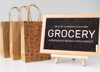 Why do customers consider grocery ordering and delivery online better?