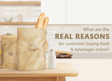 What are the real reasons for customers buying food and beverages online?