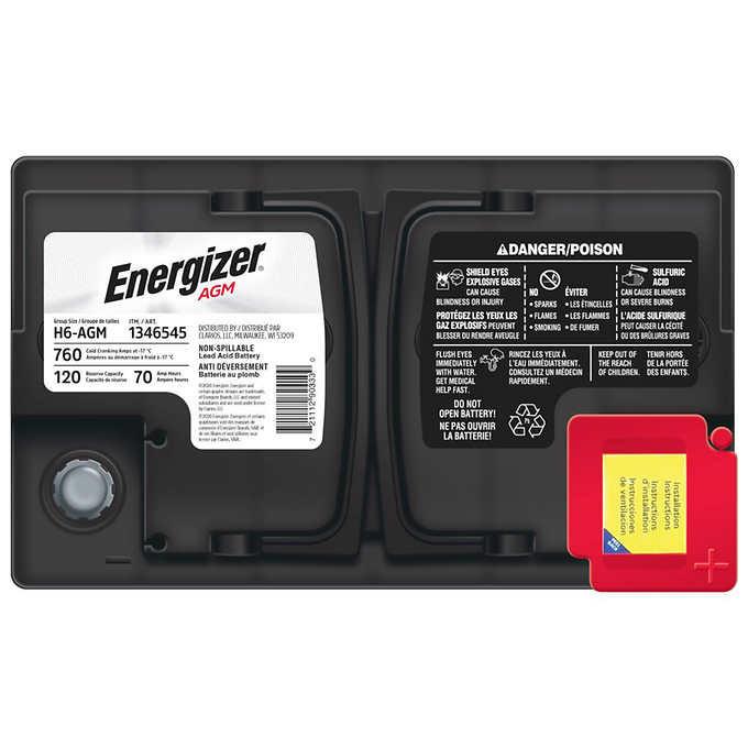 Energizer h6 agm battery
