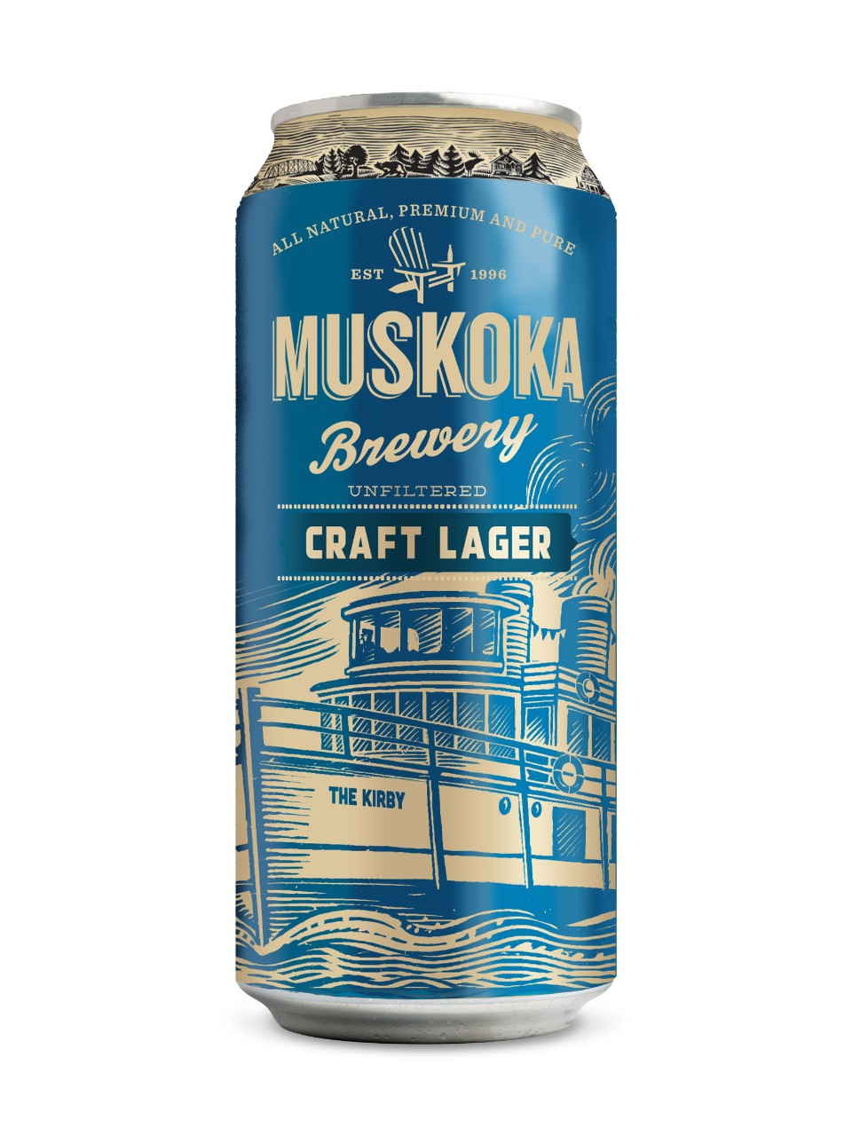 muskoka craft lager  473 ml