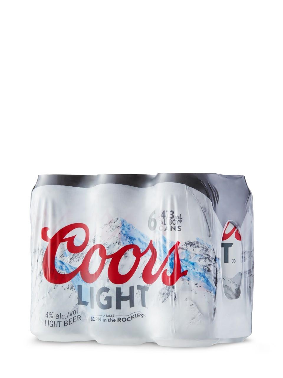 Coors light  6 x 473 ml