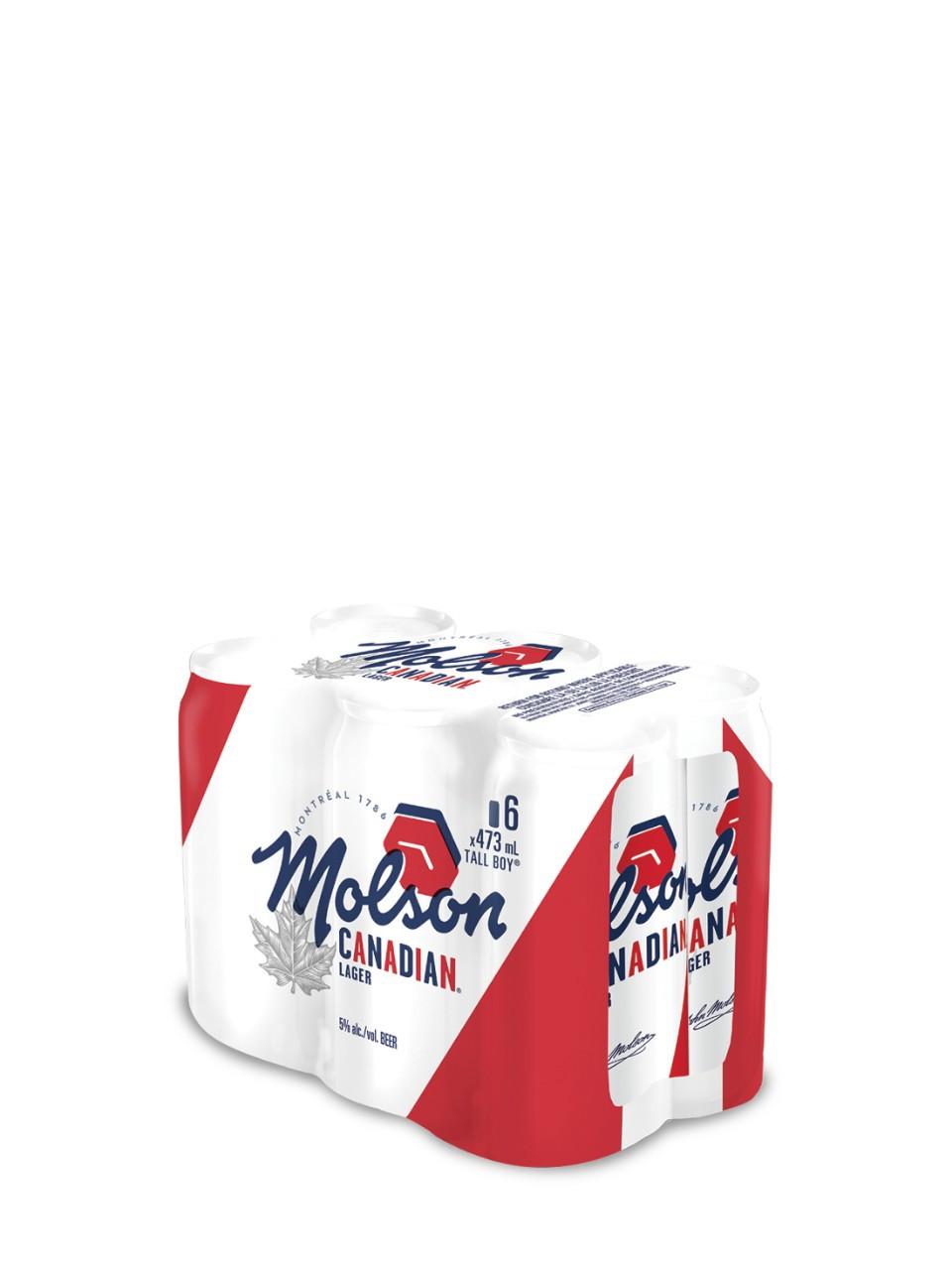 Molson canadian  6 x 473 ml