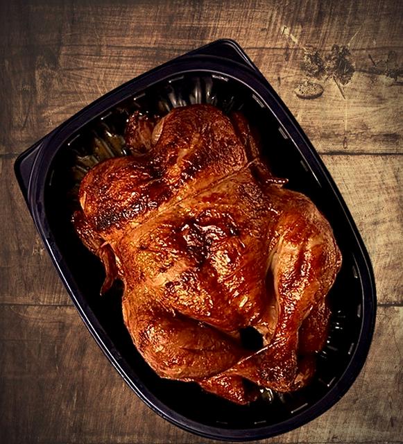 Seasoned rotisserie chicken (avg. 1.1kg)