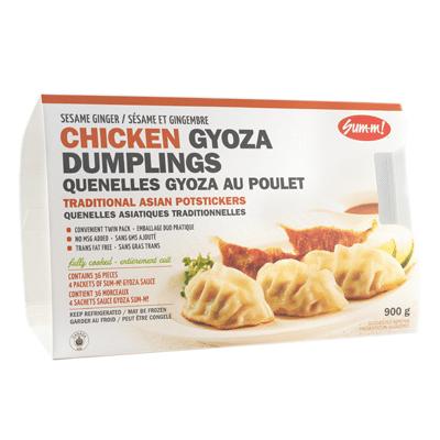 Sum-m! chicken gyoza dumplings