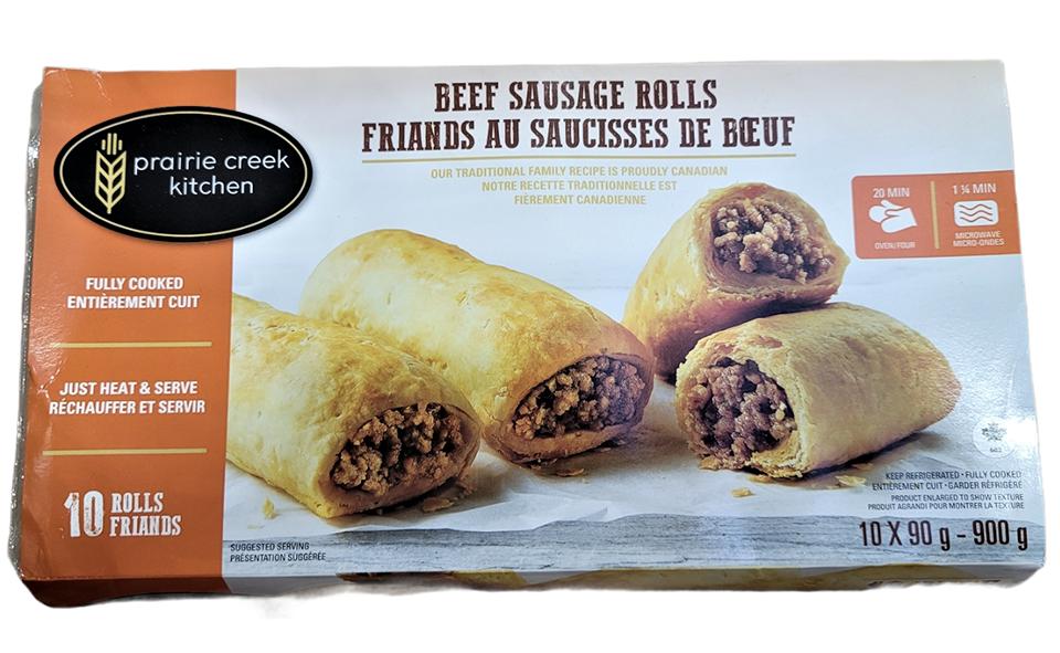Prairie greek kitchen beef sausage rolls 900 g