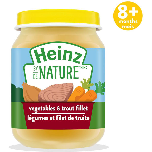 Heinzbaby food - vegetables & trout fillet purée1