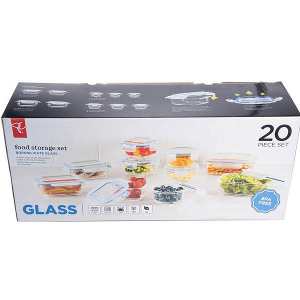 President's choice20 pieceglass food storage set2