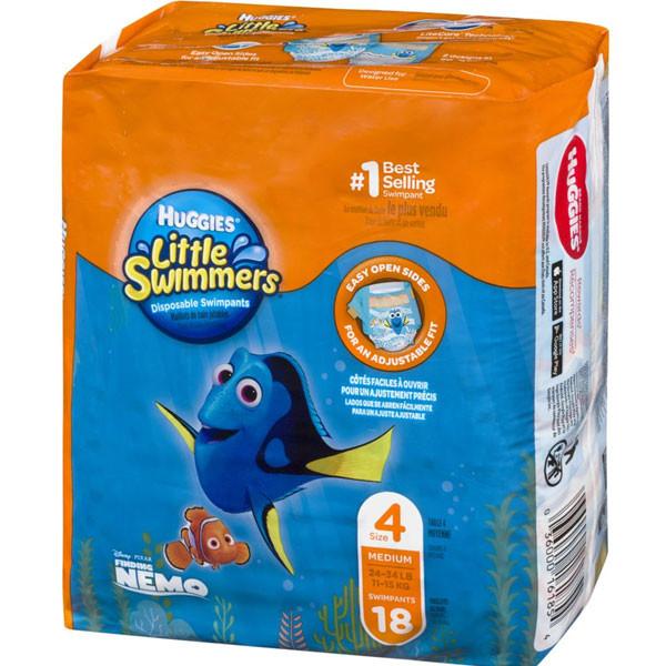Huggieshuggieslittle swimmers disposable swim diapers, swimpants, size 4 medium (24-34lb.), 18 ct