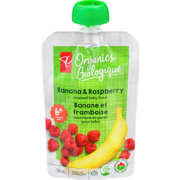Pc organicsbanana & raspberry strained baby food1