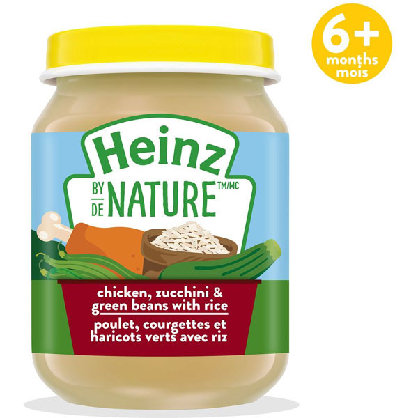 Heinzbaby food - chicken, zucchini &green bns with rice purée1