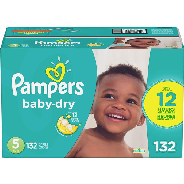 Pampersbaby dry diapers size 5 132 count
