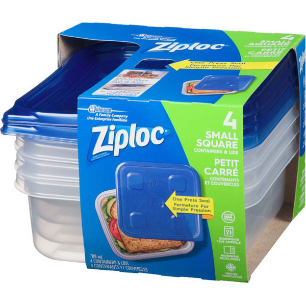 Ziploccontainers, small square