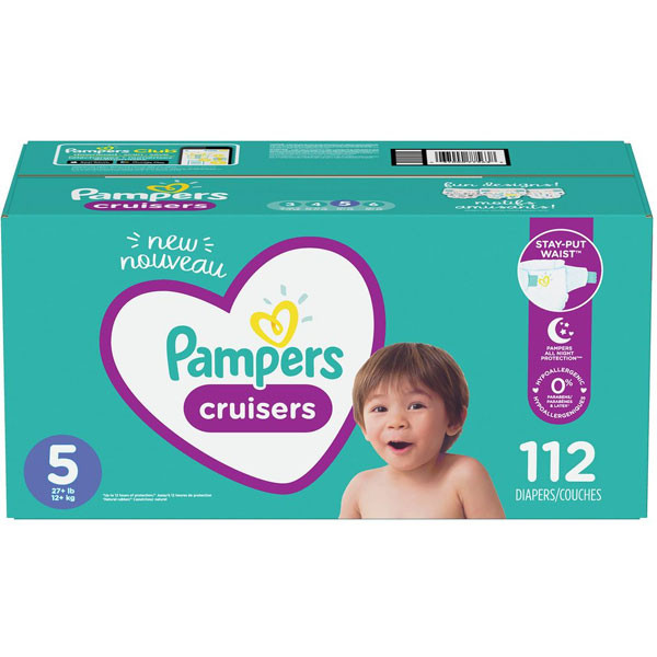 Pamperscruisers diapers size 5 112 count