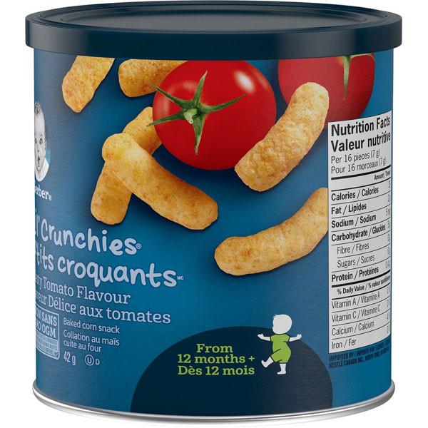Nestlelil' crunchies, zesty tomato, toddler snack