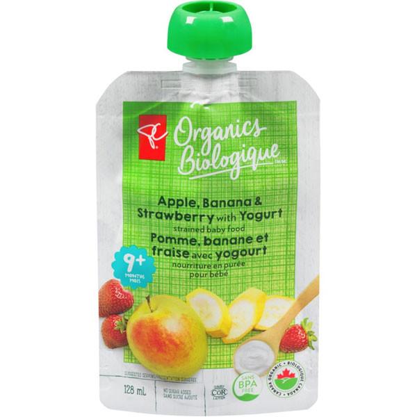 Pc organicsapple, strawberry & banana yogurt1