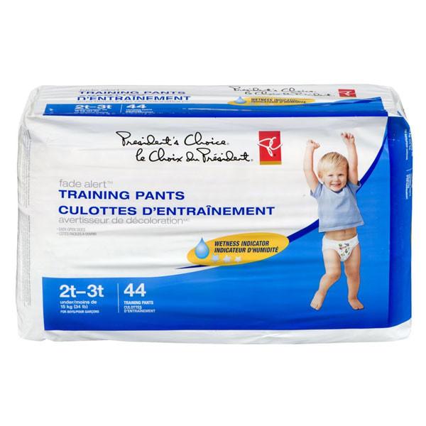 President's choicefade alert training pants, boys 2t-3