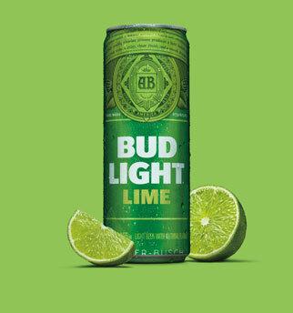 Labatt bud light lime  24 x bottle 341 ml