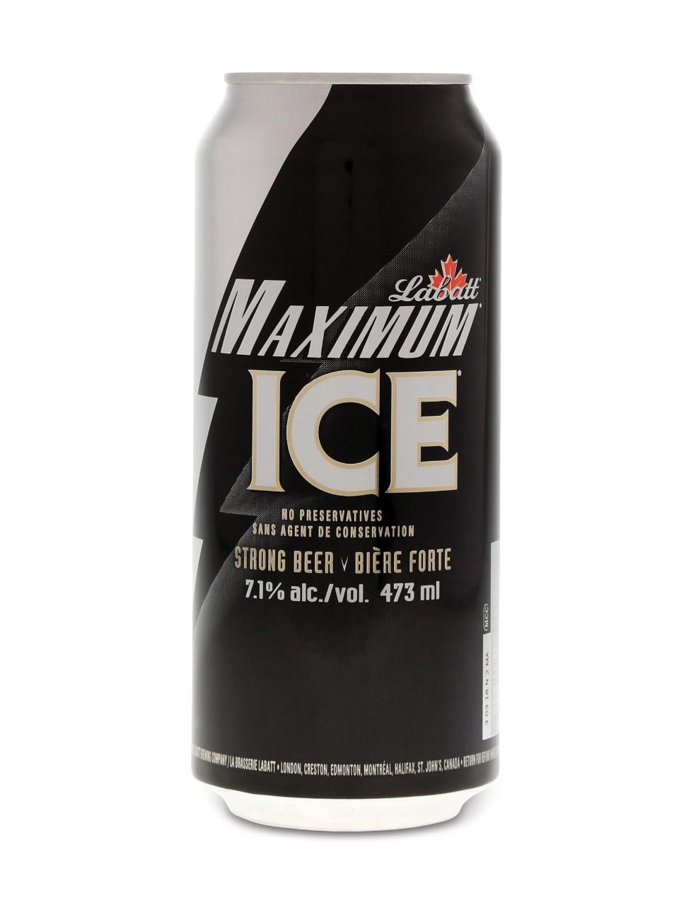 Labatt maximum ice 12 x can 473 ml