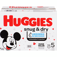 Huggiessnug & dry diapers, size 5, 132 ct