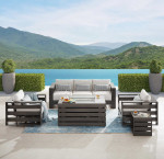 Whitney 5-piece patio conversation set with fire table