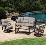 Abington 4-piece patio conversation set