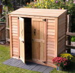 Outdoor living today outdoor garden shed 6 ft. x 3 ft.
