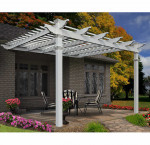 New england arbors 12 ft. x 12 ft. freemont attached pergola