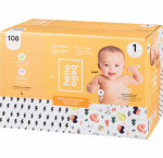 Hello bellodiapers, size 1, 108 count10