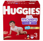Huggies little movers plus, size 3, 210-pack