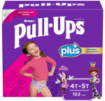 Huggies pull-ups plus training pants 4t to 5t girl, 102-pack