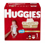 Huggies plus size 1 little snugglers diapers 192 ct