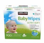 Kirkland signature ultra soft tencel baby wipes, 9 packs of 100
