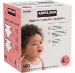 Kirkland signature diapers size 4, 180-count