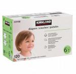 Kirkland signature diapers size 6, 120-count