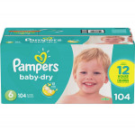 Pampersbaby dry diapers size 6 104 count