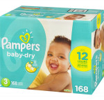 Pampersbaby dry diapers size 3 168 count