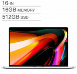 Apple 16 in. macbook pro with touch bar, silver with applecare+, intel i7, 16 gb ram, 512 gb ssd
