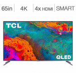 Tcl 65-in. 4k hdr roku smart tv 65s533ca