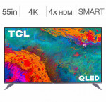 Tcl 55-in. 4k hdr roku smart tv 55s533ca