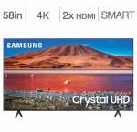 Samsung 58-in. smart 4k hdr tv un58tu7000
