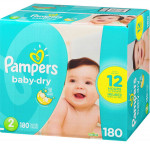 Pampersbaby dry diapers size 2 180 count