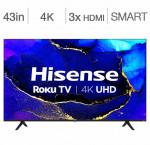 Hisense 43-in. 4k hdr roku smart tv 43r61g