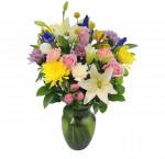 Premium floral arrangement in vase