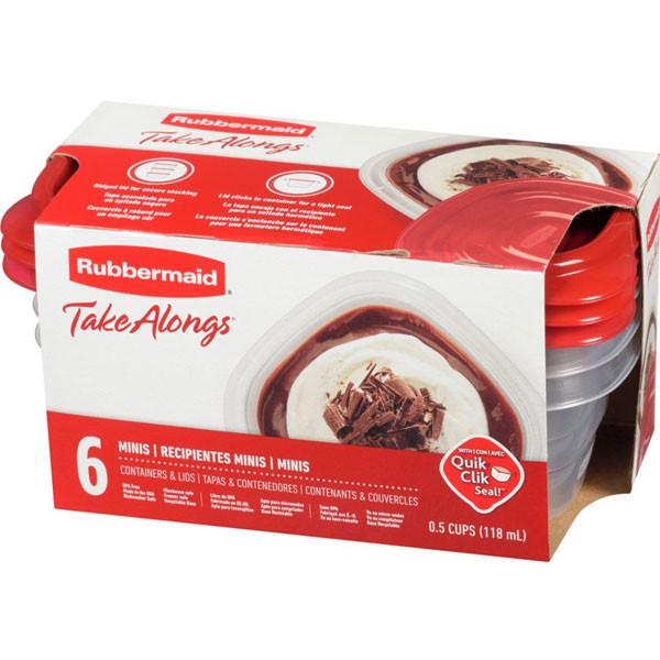 Rubbermaidrubbermaid taklongs mini food storage containers, 118ml, 6 pa