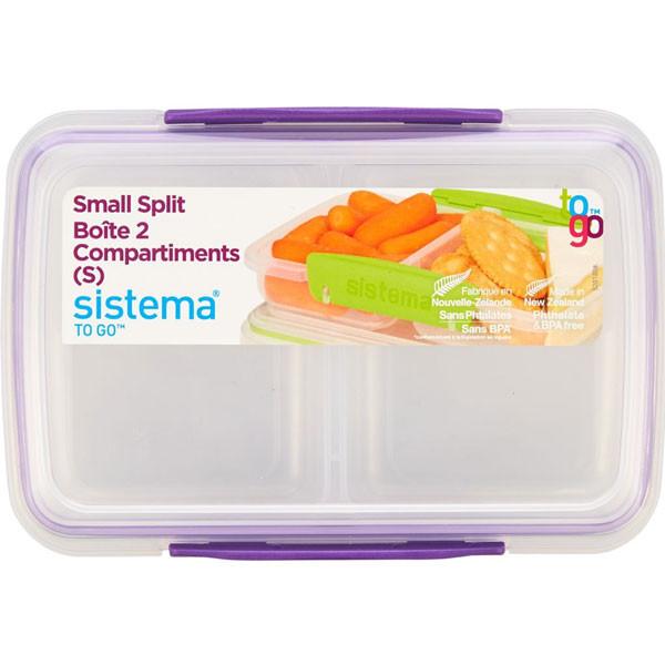 Sistemasplit to-go container