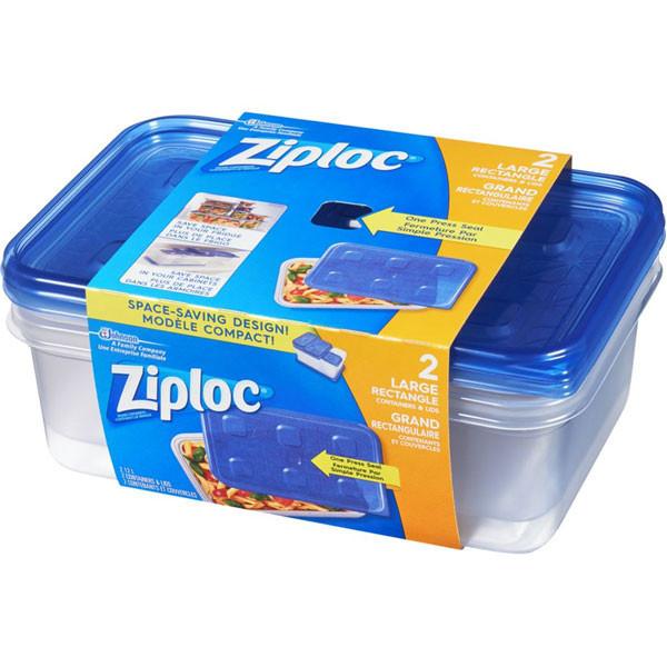 Ziplocfood containers, rectanglelarge