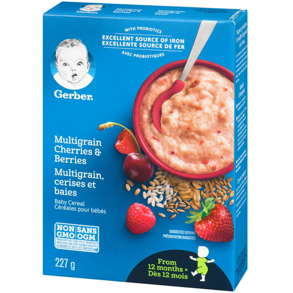Nestlestage 4 multigrain cherries & berries baby cerl