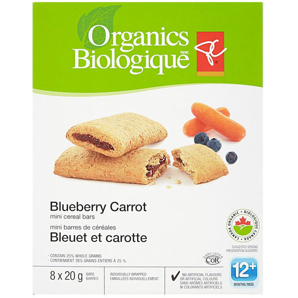Pc organicsmini cerl bars, banana berry