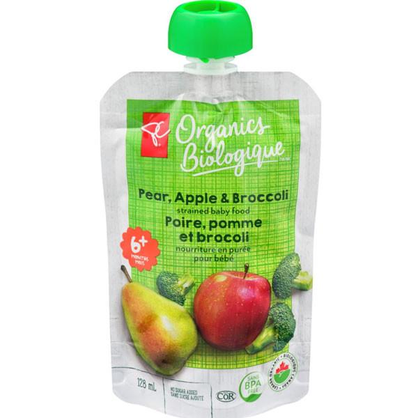 Pc organicspr, apple & broccoli strained baby food6x1